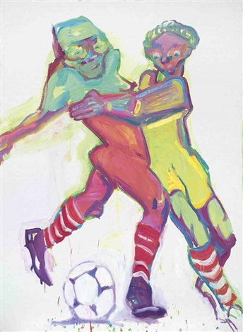 competition i by maria lassnig