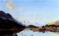 a sunlit highland lake by william douglas macleod
