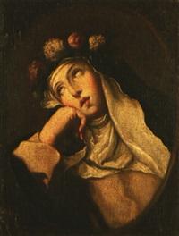 santa rosa de lima by luigi garzi