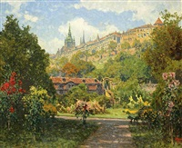 prague in blossom by heinrich tomec