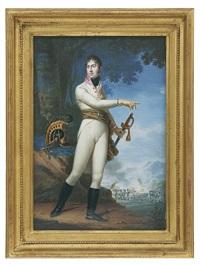 portrait d'un officier autrichien, probablement pendant la bataille d'austerlitz by carl de bourdon hummel
