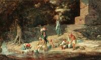 lavandières au bord de l'oued by lieutenant long