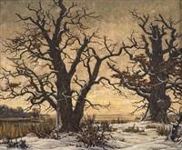 eichen im winter by karl hennemann