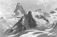 das matterhorn mit dem dent d'hérens by josef haas-triverio