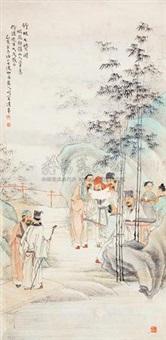 竹林七贤 by huang danru