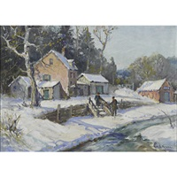 along the stream in winter by george a. newman