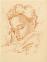 portrait of a sleeping woman by imre goth