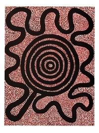 snake dreaming by anatjari tjakamarra