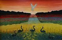 swans by henri bastin