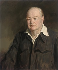 portrait of winston churchill by amy katherine dugdale