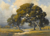 oaks near ranch, carmel valley by percy gray