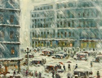 new york city in the snow by harriette bowdoin