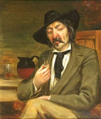 portrait of a gentleman smoking by james pittendrigh macgillivray