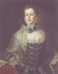 portrait of elisabeth-friederike sophie, duchess of württemberg, née countess of brandenburg-bayreuth by anna rosina lisiewski