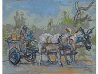 donkey cart by gregoire johannes boonzaier
