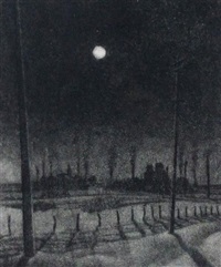 winter night on the prairie by ernest lindner