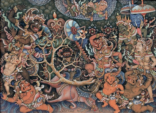 Scene from ramayana story by Gusti Ketut Kobot on artnet
