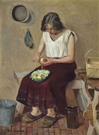 peeling potatoes by christian aigens