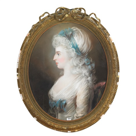 portrait of miss featherstone-haughleigh of packwood hall, warwickshire by john russell