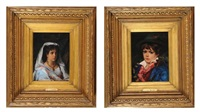 portraits (2 works) by léon herbo
