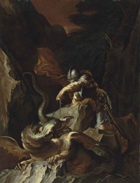 jason and the dragon by salvator rosa