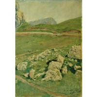 mountain plateau by mariano fortuny y de madrazo