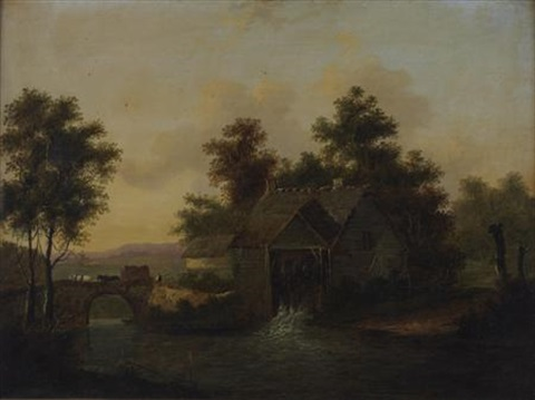 by a watermill by patrick nasmyth