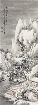 围炉聚旧 立轴 设色纸本 ( gathering in around furnace) by qian songyan