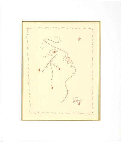 face of a man by jean cocteau