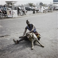 abdullahi mohammad with mainasara, lagos, nigeria from gadawan kura - the hyena men ii by pieter hugo