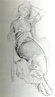 portrait de pachkovskaïa, danseuse du théâtre impérial by fjodor ivanovitch rerberg
