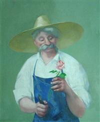 jardinier à la rose by alfred gaspart