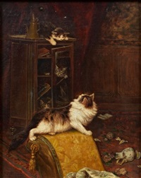 jeux desastreux d'une chatte et de ses chatons by jules gustave leroy