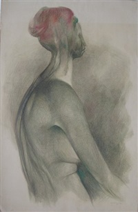 seated nude by guillermo meza