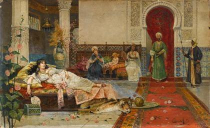 harem scene by juan gimenez y martin