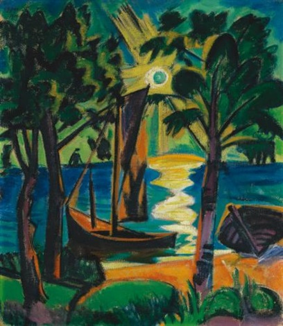 am haff in the lagoon by max pechstein