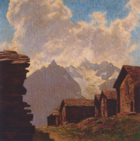 bei findelen, schweiz (zermatt), obergabelhorn by bruno hess