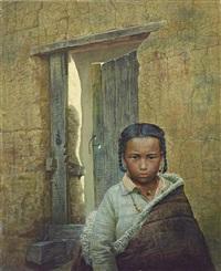 the tibetan kid 藏人 by luo zhongli