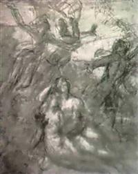 un couple allogne entoure de figures allegoriques (recto et verso) by louis-charles-auguste couder