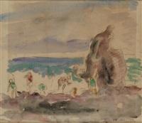jeunes enfants sur la plage by henri lebasque