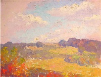 plein-air landscape by henry james albright