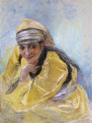 portrait de jeune fille marrakech by lucien lévy dhurmer