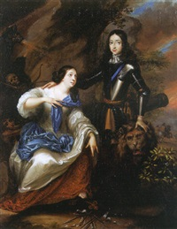 william iii of orange, the protector of the netherlandish maid and lion by daniel haringh