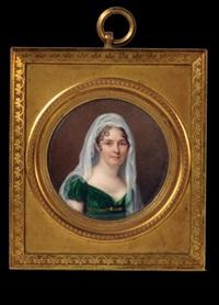 portrait de la baronne oberkampf (?) by jean baptiste jacques augustin