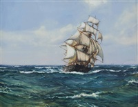 fair weather in the trades by montague dawson