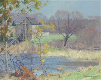 pond at old lyme, connecticut by maurice braun