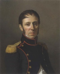 portrait vicomte felix de simony in offiziersuniform by j. couturier