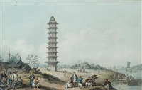 pagoda of lin-ching-shih on the grand canal by william alexander