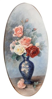 vase de roses by madeleine renaud