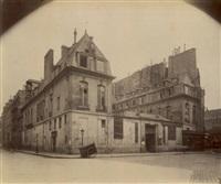 hôtel du marquis de paroy, rue charlot, paris by eugène atget